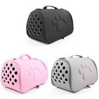 2X(Dogs Cat Folding Pet Carrier Cage Collapsible Puppy Crate Handbag Carryi U4W1