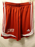 Women's Adidas Climacool RUNNING Athletic Shorts Red Sz Small 100% Polyester CVU