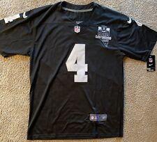 Derek Carr Las Vegas Raiders Medium Black Game Jersey Brand New with Patch