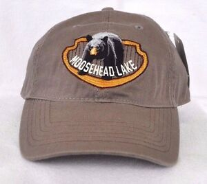 *MOOSEHEAD LAKE MAINE* Black bear Ball cap hat *OURAY* embroidered