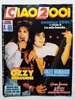 CIAO 2001 N. 20-1986 +POSTER A-HA OSBOURNE BRANDUARDI BRONSKI BEAT BONNIE TYLER