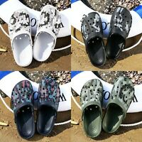 Summer Fashion Men's Slippers Clogs Slip-On Garden Sandals Beach Water Shoes