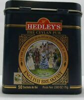Hedley's The Worlds Finest Premium Tea Tins Pure Ceylon Blue Gold