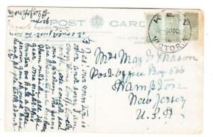 Victoria 1/2d(strip of 3)-GUM TONING-KEW 30/OC/12-Postcard View AT THE HEAD