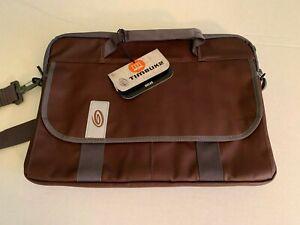 """Timbuk2 Quickie 17"""" Mahogany Brown/Tusk Grey Trim Laptop Bag"""
