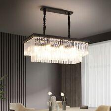 Modern Kitchen Island Chandelier Linear Crystal Pendant Light Ceiling Fixtures