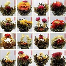 10 BLOOMING FLOWER FLOWERING JASMINE GREEN CHINESE TEA BALL HOME WEDDING FAVOR