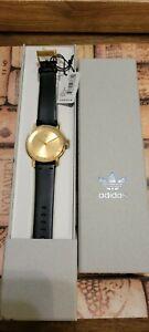 Men Adidas District L1 Watch Gold Tone