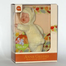 Anne Geddes Bean Filled Soft Body Doll Collection | Baby Bear - Light Yellow