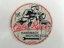 Cafe Racer Sticker / Rund Motor Motorrad Tank Handmade BMW Honda Yamaha Harley