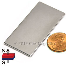 Cms Magnetics N45 Neodymium Magnet Flat Rectangular 2x 1x 116 10 Pc