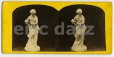 Stereoview~Ryche, scupture, nude woma pouring wine, m26970