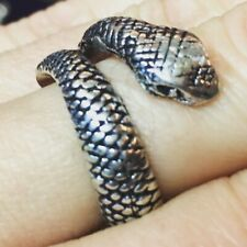 Silver Plated Snake Ring, Open Adjustable -Boho, Hippy, Unique Ladies Gift Ideas