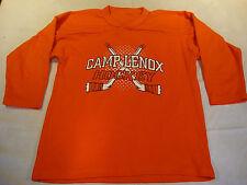 Venus Camp Lenox Boys Kids Youth Solid Orange Hockey Jersey L / XL 100% Polyeste