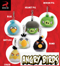 6 Angry Birds Doll Stuffed Soft Limited Edition plush key chain character Movie