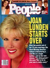 People Magazine March 9, 1992 Joan Lunden Happy Days Reunion Fonzie NO LABEL