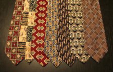 Lot of 7 NEW Geoffrey Beene Designer Neck Ties with Patterns LD003