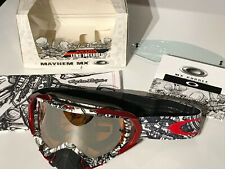 Oakley Mayhem MX Goggle TLD Signature 57-663 white piston bone/black irid. rare