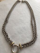 David Yurman Wheat Chain Necklace With Gold And Silver 15 1/2 Inches
