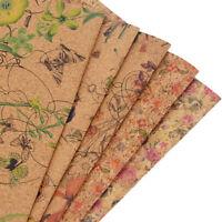 1Yard Flower Printed Cork Fabric Handbag Garments Clothing Sewing Crafts DIY