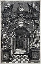 SCHÖNER ALLEGORISCHER ORIGINAL-KUPFERSTICH UM 1695 BILDERSAAL
