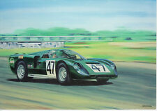 Healey Climax SR 1968 Silverstone Le Mans Du Mans  art card not  Austin Healey