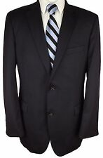 #BZ557 HUGO BOSS Pasolini/Movie Us_2 Navy Blue 100% Wool Blazer 44 Long