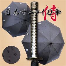 """PARAPLUIE NOIR DE KATANA/DE SAMURAI ET NINJA JAPONAIS!  """"Parapluie de Magie""""!"""