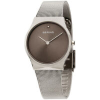 Bering Classic Quartz Movement Grey Dial Ladies Watch 12130-609