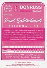 2017 DONRUSS PAUL GOLDSCHMIDT 1B ARIZONA 1983 RETRO #RV-1 PINK BACK SP