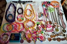 Jewelry (Necklaces, Ear Rings, Bracelets & More) Lot Of 55 Pcs. Of Kids & Adult