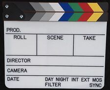 Professional Color ENGRAVED Movie Clapper Board , Camera Scene Slate, Clapboard