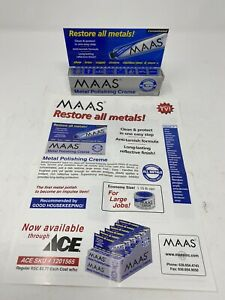 MAAS Metal Fine Polishing Concentrated Creme 2 oz Tube All Metals-Made in USA