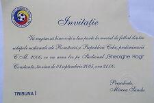 TICKET Einladung LS 3.9.2005 Rumänien - Tschechien