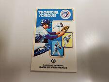 RS20 Toronto Blue Jays 1979 MLB Baseball Pocket Schedule - CIBC