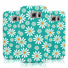 DYEFOR DAISY PATTERN PRINT TURQUOISE CASE COVER FOR SAMSUNG GALAXY MOBILE PHONES