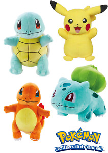 Pokemon Official Kids Plush Teddy Squirtle, Pikachu, Charmander, Bulbasar Toys