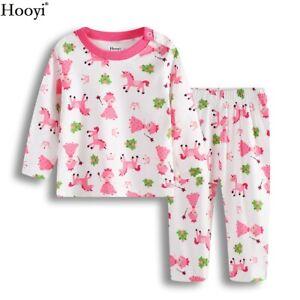 Baby Girl Clothes Set Children Princess Pajamas Suit Baby Sleepwear 0-2Y