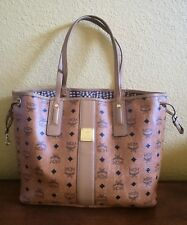 MCM Medium Liz  Reversible Shopper Tote Cognac