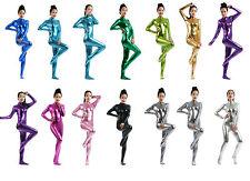 Metallic lycra Catsuit Womens Dance Wear Spandex Zentai Bodysuit no hood&hand