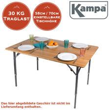 Stilvoller XXL Campingtisch Bambus Klapptisch Falttisch Tisch höhenverstellbar