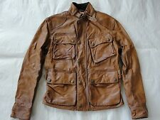 NWT $1295 Polo Ralph Lauren Men's Southbury Biker Leather Jacket Brown Sz S