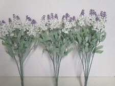 Deko künstliche Blumen 3 x Lavendel Seidenblumen Kunstblumen Floristik wie echt