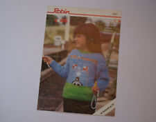 Knitting Pattern Robin DK Child's Here's Thomas The Tank Engine Sweater 20-28""