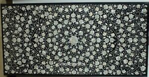 36 x 72 Inch Marble Restaurant Table Top Inlay Dining Table with Mother of Pearl