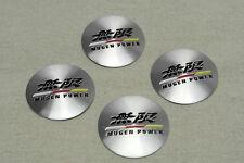 NEW JDM 4Pcs Mugen Power Aluminum Alloy Car Wheel Center Hub Caps Sticker Emblem