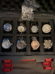 Invicta Watches (8 Watches with One 8 Slot Dive case & Three 1 Slot Dive Cases)