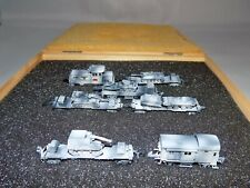 MARKLIN Z SCALE CUSTOM WWII ARMORED TRAIN SET IN WINTER CAMO - RARE
