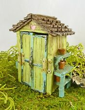 Dollhouse Miniature Fairy Garden HALF SCALE Tool Shed, 17280