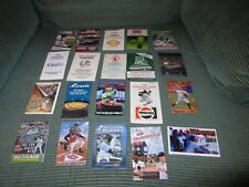 MINOR LEAGUE BASEBALL POCKET SCHEDULE LOT